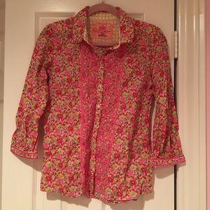 Robert Graham Women's Button Down Shirt Floral M